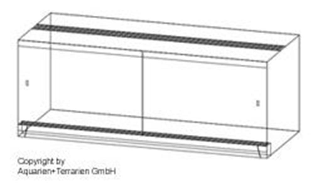 Bild von Quadra-Terrarium 130x50x80cm/6mm