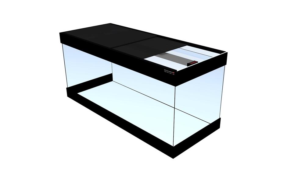 Bild von Quadra-Aquarium-HTL 80x40x57cm/8mm