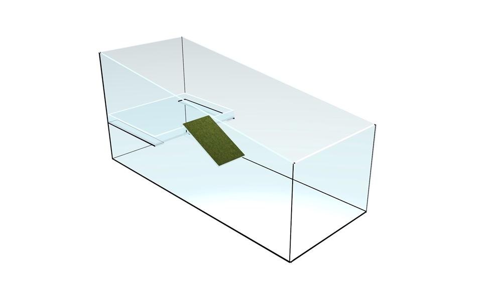 Bild von Schildkröten-Becken 80x35x50:40cm/6mm